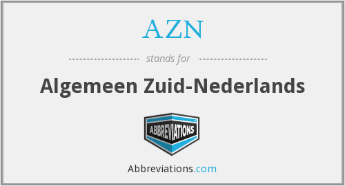 AZN - Algemeen Zuid-Nederlands