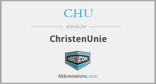 CHU - ChristenUnie