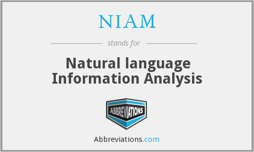 NIAM - Natural language Information Analysis
