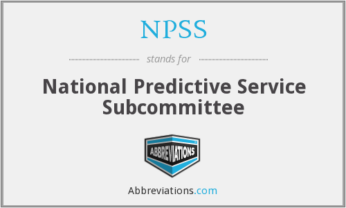 NPSS - National Predictive Service Subcommittee