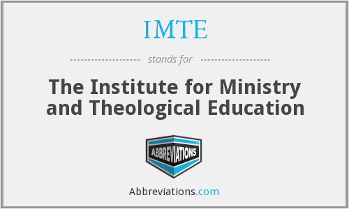 IMTE - The Institute for Ministry and Theological Education