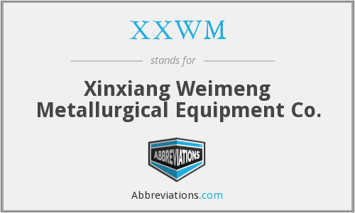 XXWM - Xinxiang Weimeng Metallurgical Equipment Co.