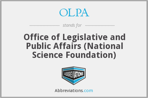What does OLPA stand for?