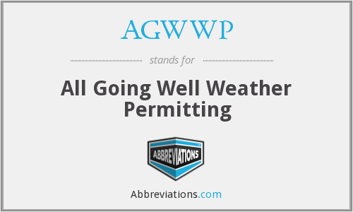 What does AGWWP stand for?