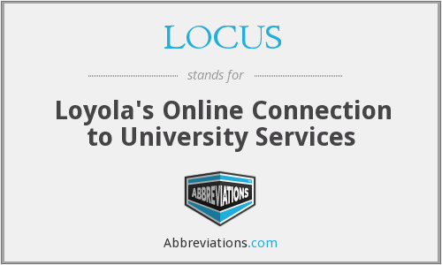 What does LOCUS stand for?