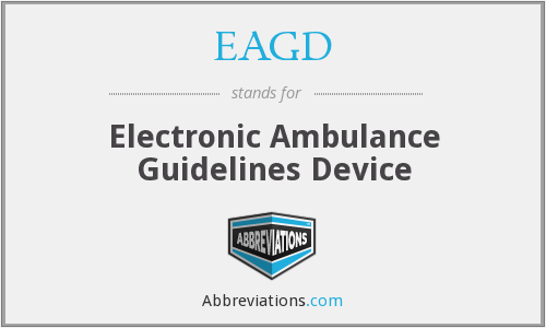 EAGD - Electronic Ambulance Guidelines Device
