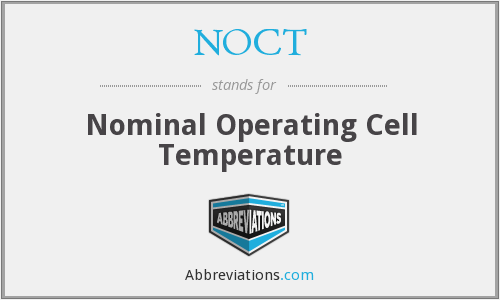 NOCT - Nominal Operating Cell Temperature