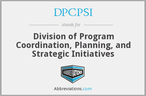 What does DPCPSI stand for?