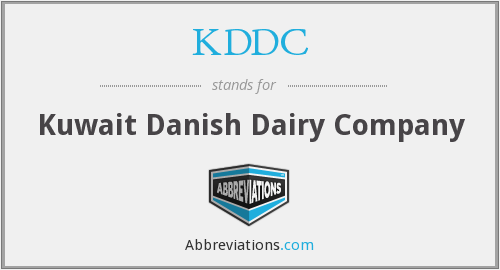 What does KDDC stand for?