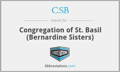 CSB - Congregation of St. Basil (Bernardine Sisters)