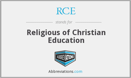 RCE - Religious of Christian Education