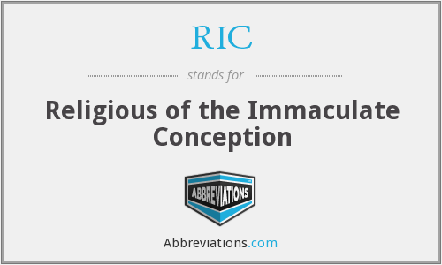 RIC - Religious of the Immaculate Conception