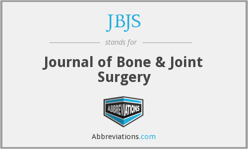 What does JBJS stand for?
