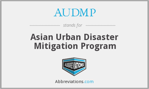 AUDMP - Asian Urban Disaster Mitigation Program