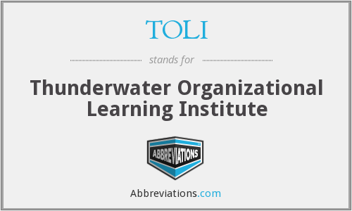TOLI - Thunderwater Organizational Learning Institute