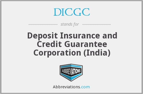 DICGC - Deposit Insurance and Credit Guarantee Corporation (India)