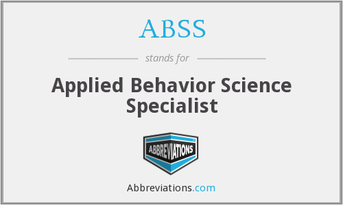 ABSS - Applied Behavior Science Specialist