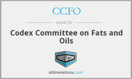 CCFO - Codex Committee on Fats and Oils