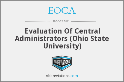 EOCA - Evaluation Of Central Administrators (Ohio State University)