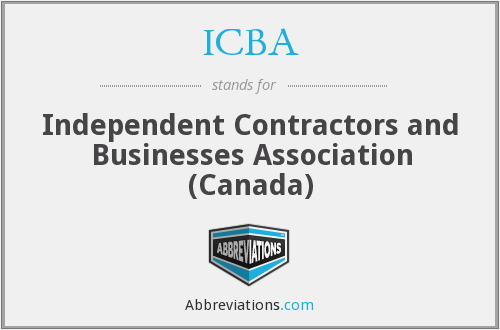ICBA - Independent Contractors and Businesses Association (Canada)