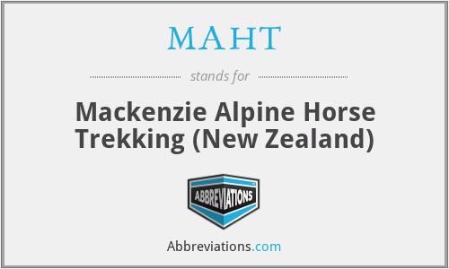 MAHT - Mackenzie Alpine Horse Trekking (New Zealand)