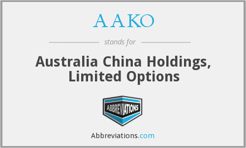 AAKO - Australia China Holdings, Limited Options