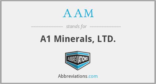 AAM - A1 Minerals, LTD.