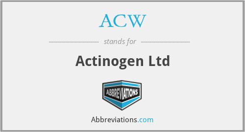 ACW - Actinogen Ltd