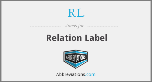 RL - Relation Label