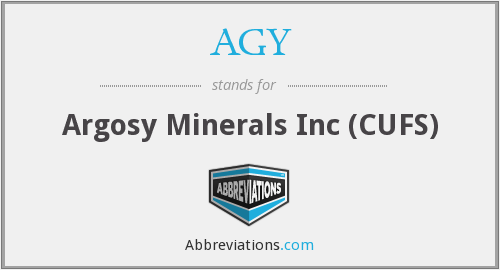 AGY - Argosy Minerals Inc (CUFS)