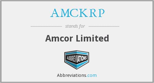 AMCKRP - Amcor Limited