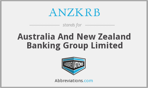 What does ANZKRB stand for?