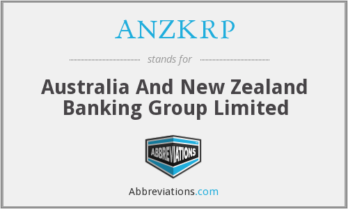 ANZKRP - Australia And New Zealand Banking Group Limited