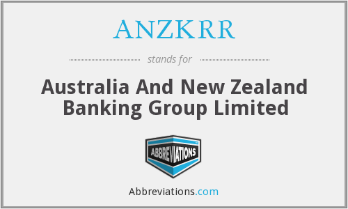 ANZKRR - Australia And New Zealand Banking Group Limited