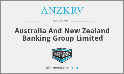 ANZKRV - Australia And New Zealand Banking Group Limited