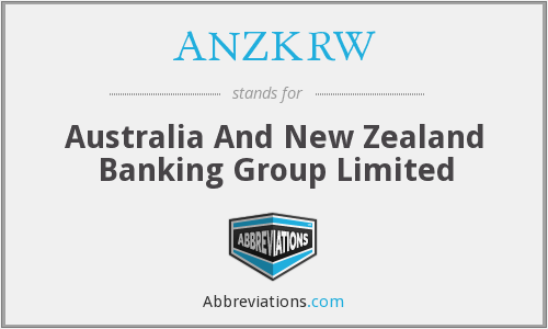 ANZKRW - Australia And New Zealand Banking Group Limited