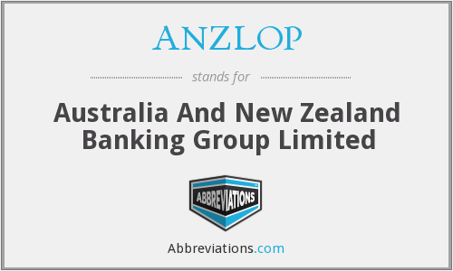ANZLOP - Australia And New Zealand Banking Group Limited