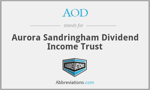 AOD - Aurora Sandringham Dividend Income Trust