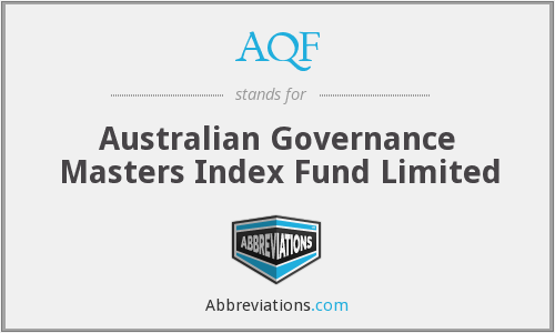 AQF - Australian Governance Masters Index Fund Limited