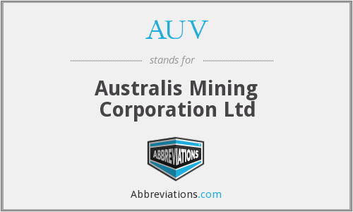 AUV - Australis Mining Corporation Ltd