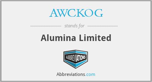 AWCKOG - Alumina Limited
