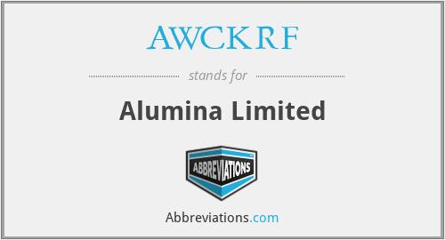 AWCKRF - Alumina Limited