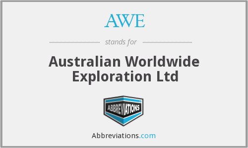 AWE - Australian Worldwide Exploration Ltd