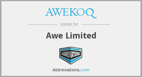 AWEKOQ - Awe Limited