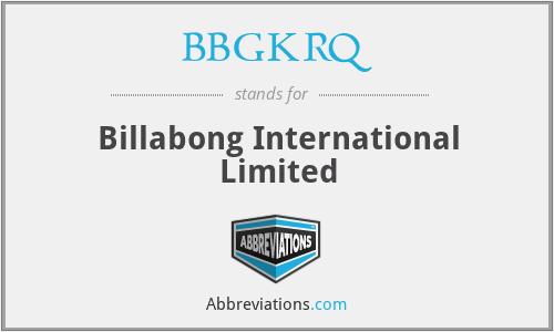 BBGKRQ - Billabong International Limited