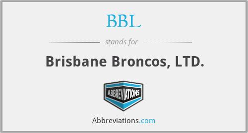 BBL - Brisbane Broncos, LTD.