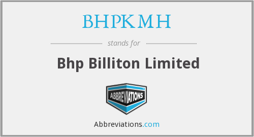 What does BHPKMH stand for?