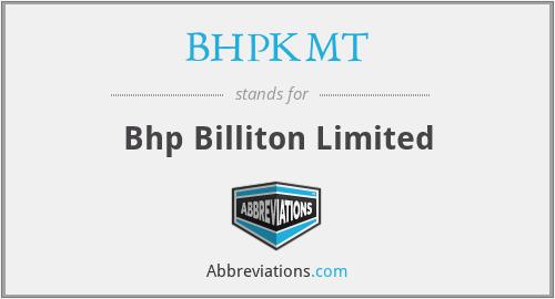 BHPKMT - Bhp Billiton Limited