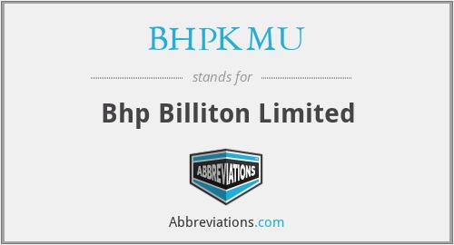 BHPKMU - Bhp Billiton Limited
