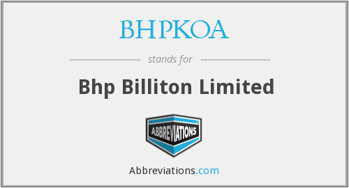What does BHPKOA stand for?